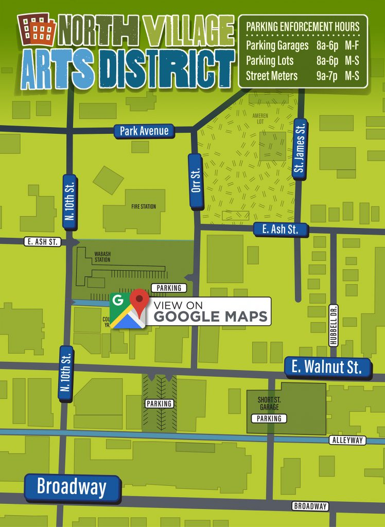 North Village Arts District Map